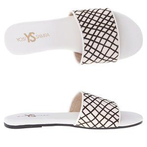 YOSI SAMRA Reese Calf Hair Slide Sandals
